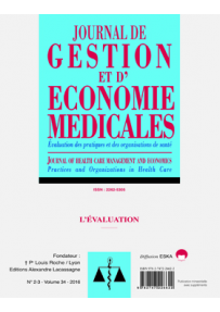 EM20162300 CONSULTER LE NUMERO 2-3 : L'Evaluation