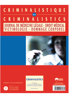 Criminalistics A series of the International Journal of Forensic Medicine