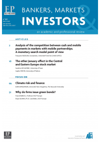 BANKERS, MARKETS & INVESTORS (N 160/MARCH 2020)