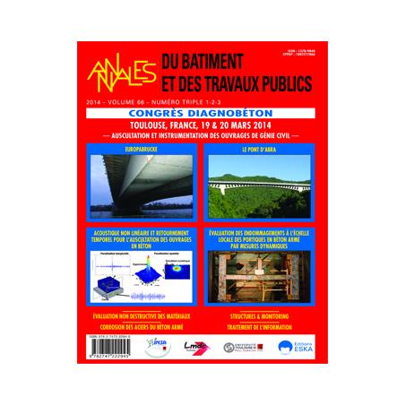 BT201412300 CONSULTER LE NUMÉRO 1-2-3 CONGRES DIAGNOBETON 2014