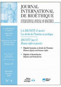 JOURNAL INTERNATIONAL DE BIOETHIQUE