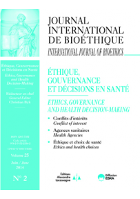 IB2014200 SEE THE NUMBER 2: ETHICS, GOVERNANCE AND HEALTH DECISION-MAKING