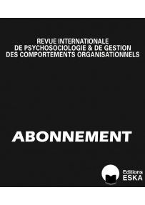 Subscription Revue Internationale de Psychosociologie PRINT VERSION