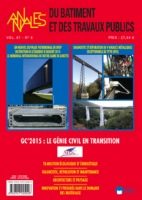 BT2015600 CONSULTER LE NUMERO 6 : GC'2015 : LE GENIE CIVIL EN TRANSITION