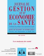 Journal de Gestion et d'Économie de la Santé